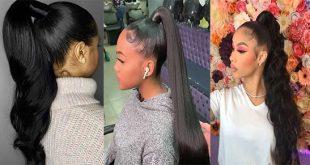 Perfekte Pferdeschwanz Frisuren für Schwarze Mädchen